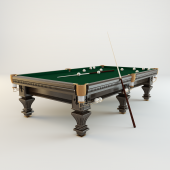 Pool table for Russian billiards «Hardy» (mahogany)