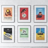 Unique & Limited Race Car Posters