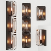 RH HARLOW CRYSTAL SCONCE, TRIPLE SCONCE