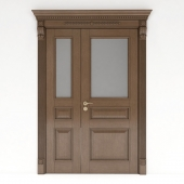 дверь мехкомнатная со стеклом 1300