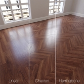 Parquet natural oak Montreal, matte finish. Linear, chevron, herringbone.