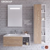 Комплект мебели для ванной OPEN 04 + Аксессуары для ванной