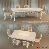 Tavolo da pranzo Venezia in stile Luigi XV