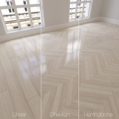 Parquet natural, alpine oak, semi-gloss. Linear, chevron, herringbone.
