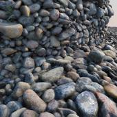 Material river pebbles