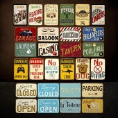 Classic Metal Signs Room