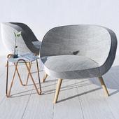Кресло Fritz Hansen - VIA57; Столик Midj - Apelle Chic (CORONA)