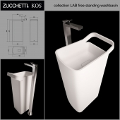 Zucchetti. KOS collection LAB free standing washbasin