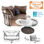 SCARLETT_Round sofa,RAVEL_Coffee table