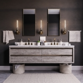 Bezier double floating vanity RH