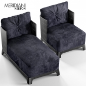 Keeton armchair & chaise longue