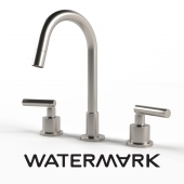 Watermark Designs 3 Hole Deck Mount Kitchen Faucet