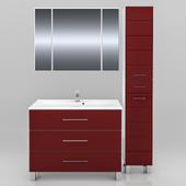 Мебель для ванной СанТа Омега 100 напольная (в двух цветах)
