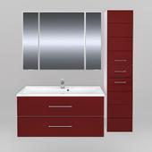 Мебель для ванной СанТа Омега 100 подвесная (в двух цветах)