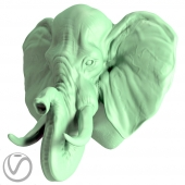 Plaster head elephant