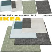 IKEA STILLEBAK, STENLILLE RUG SET