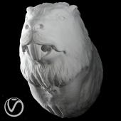 Гипсовая голова бобра
