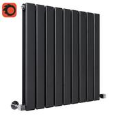 Milano Alpha - Black Horizontal Double Slim Panel Designer Radiator