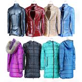 Женская кожаная куртка, пальто и пуховик