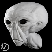 Plaster head alien