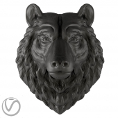 Bear plaster head