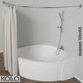 Ванны угловые симметричные MAGNUM 155*155 см, RELAX 150*150 см, INSPIRATION 140*140 см, тм KOLO