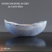 ASHEN OAK BOWL IN GREY by Calvin Klein