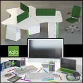 Офисная мебель Solo с декором и техникой