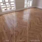 Parquet natural, oak with knots copperhead, 3 species