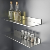 kitchen condiments + IKEA LIMHAMN shelf