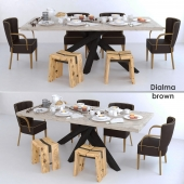 Dialma brown set