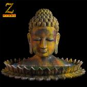 Ancient Coloured Buddha Statue