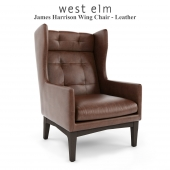 West Elm , James Harrison Wing Chair - Leather