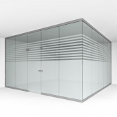 Office glass partition 1