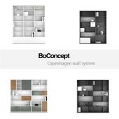 BoConcept Copenhagen wall system   set 3