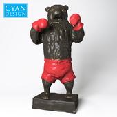 Bear Down Sculpture