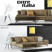Диван Ditre Italia Dalton с декором