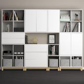 Комбинация шкафов с ножками Ikea Экет.