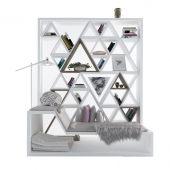 Bookshelf for reading with decors