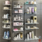 Accessories and cosmetics for the bath + Axentia shelves, Bemeta set 1