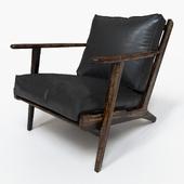 Brooks Lounge in Ebony Leather