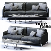 Ditre Italia ELLIOT 3-er Maxi Sofa