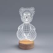 """TeddyBear"" lamp by Cheha"