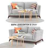 Sofa Lexiconton S GRAY 2-seater