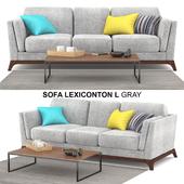Sofa Lexiconton L GRAY 3-seater