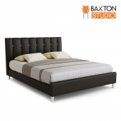 Baxton Studio, Vino Black Modern Bed