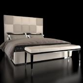 Fendi bed Diamante and bench Dedalo
