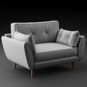 Zinc Cuddler Sofa