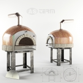 Pizza oven AS TERM D100K for firewood
