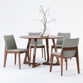 Scandinavian Designs Fuchsia Dining Chair & Cress Round Dining Table
